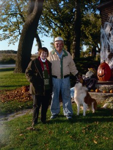 Ed and Margret Klessig in 2001 in front of the legendary black walnut tree.
