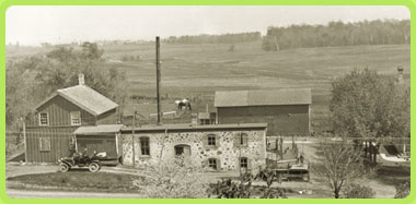 1912. The second cheese factory on Saxon Homestead Farm.