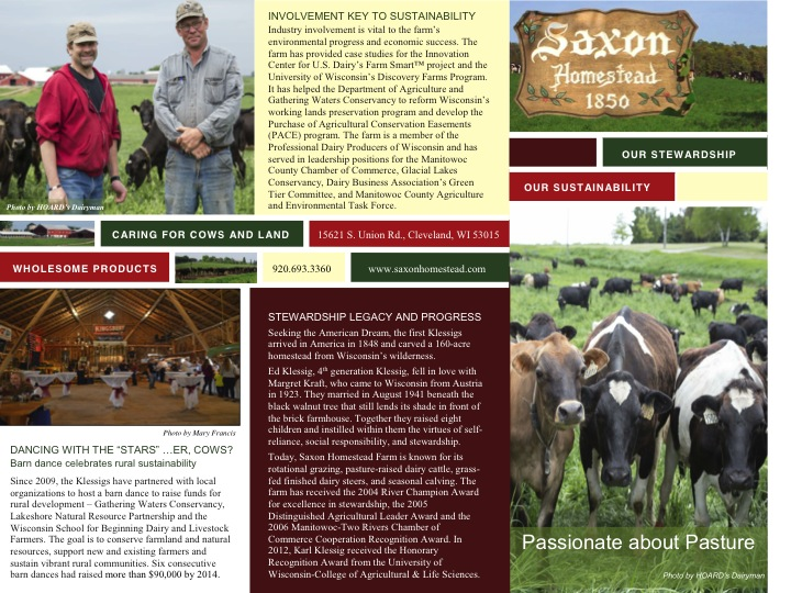 Saxon Homestead Farm brochure