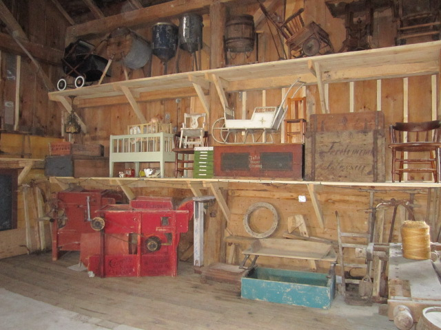 A section of the antique exhibit in our renovated historic barn.