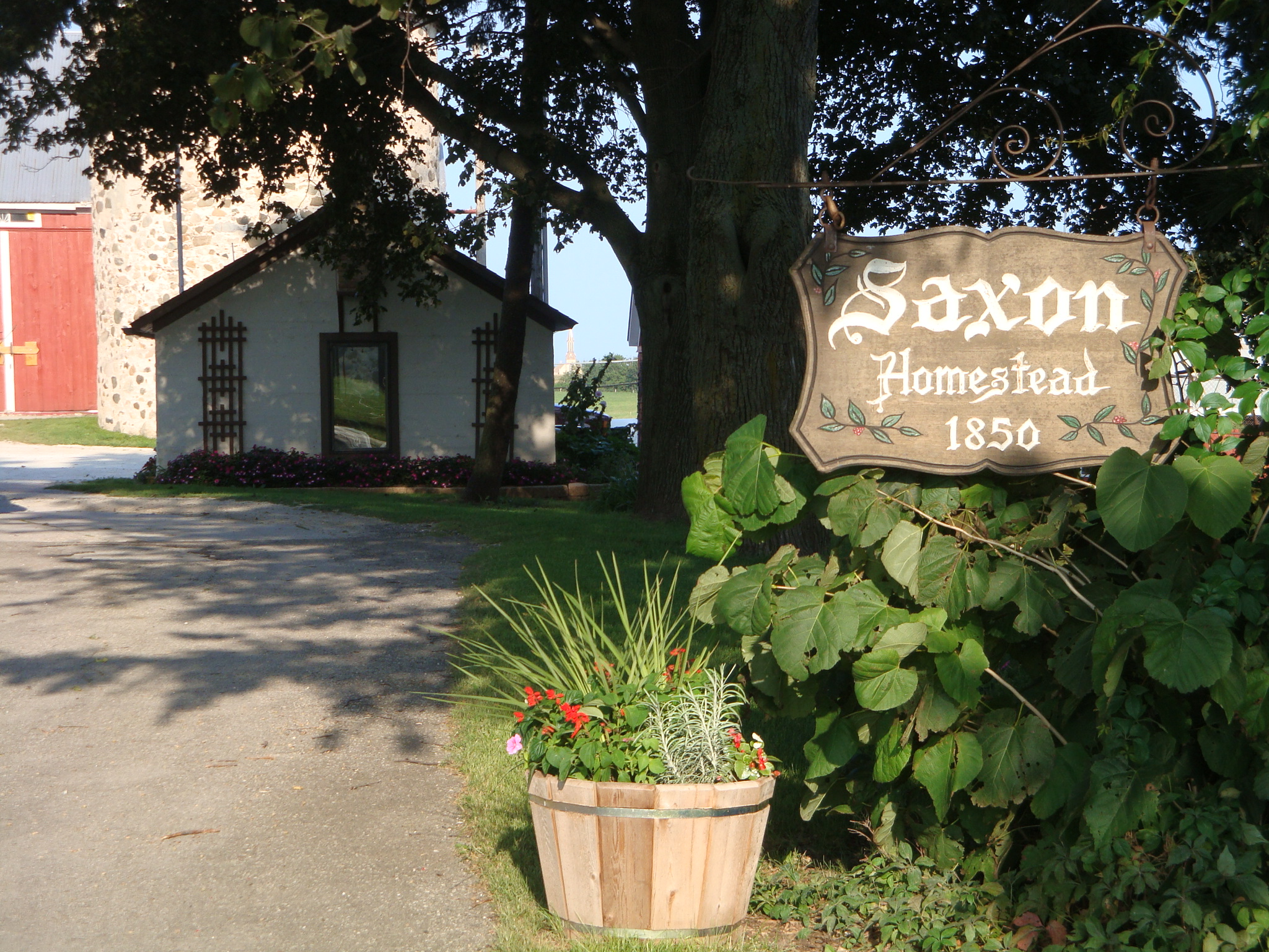Saxon Homestead Farm entrance