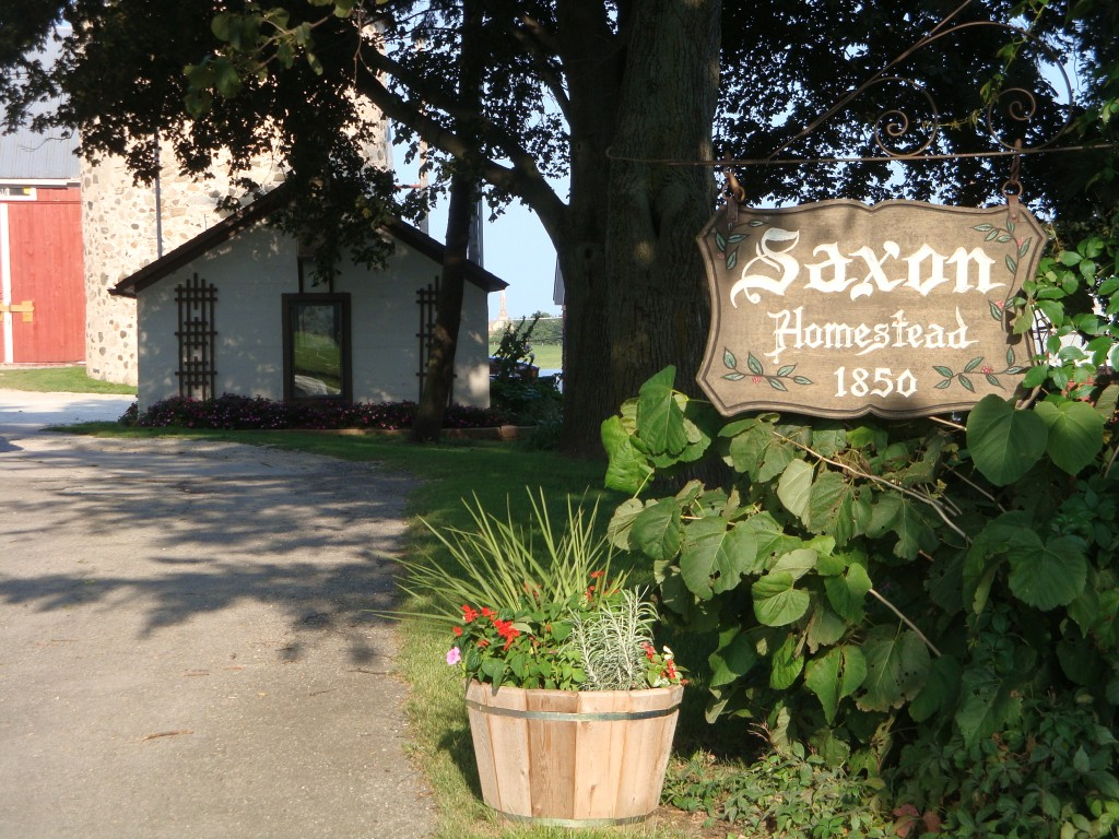 Saxon Homestead Farm welcome sign